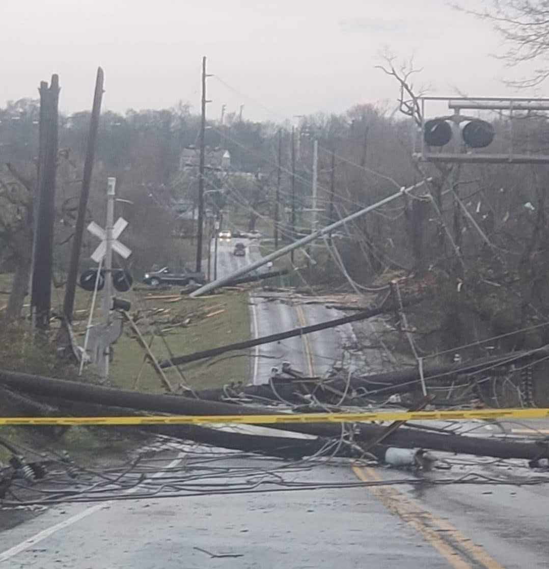 McGavock Pike after tornado in Donelson Tennessee