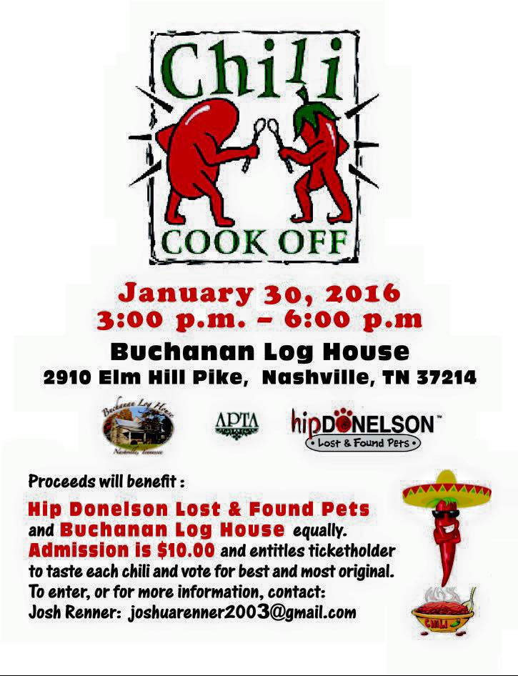 Chili Cook off Buchanon House - January 30 2016
