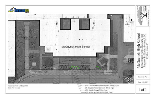 McGavock High School Front Landscape Plan