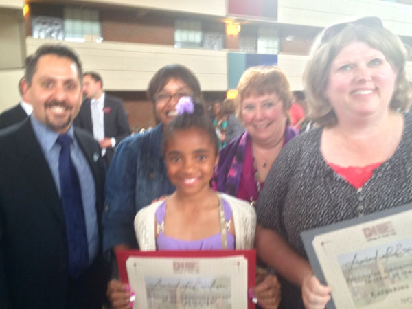 Pennington Elementary Student of the Year Alaina Harris and Teacher of the Year Katherine Tilla.