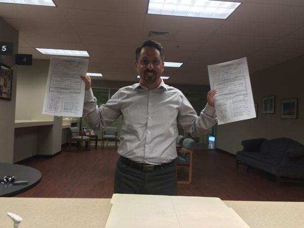 Petition Signed and Delivered - Jeff Syracuse for Metro 15
