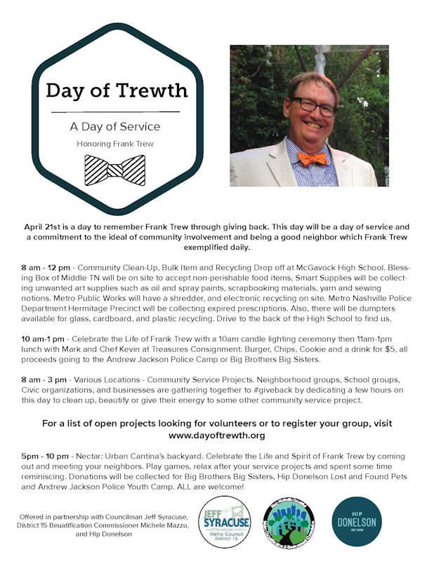 Our Donelson Library is Finally Moving Forward, an Update on the Donelson Transit Oriented Development District and a Day of Trewth to Honor Frank
