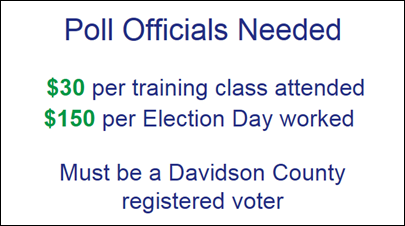 Now Hiring Poll Workers in Davison County