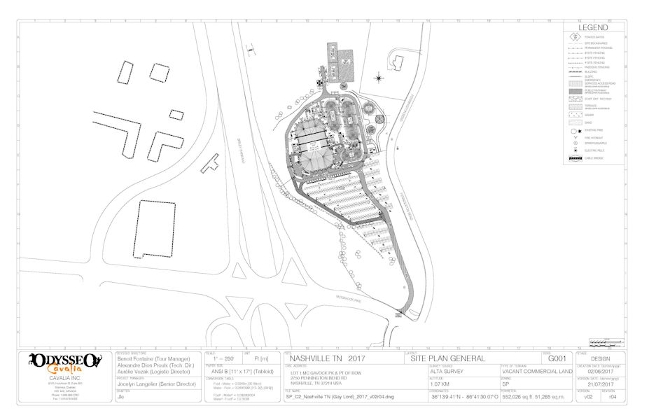 Cavalia Equestrian Theatrical Show Site Map