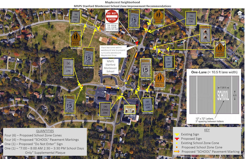 Maplecrest School Zone Plan District 15
