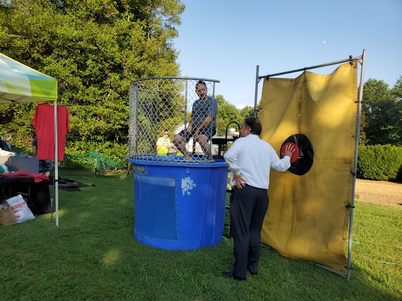 Jeff being Dunked at Hip Donelson Community Farmer's Market