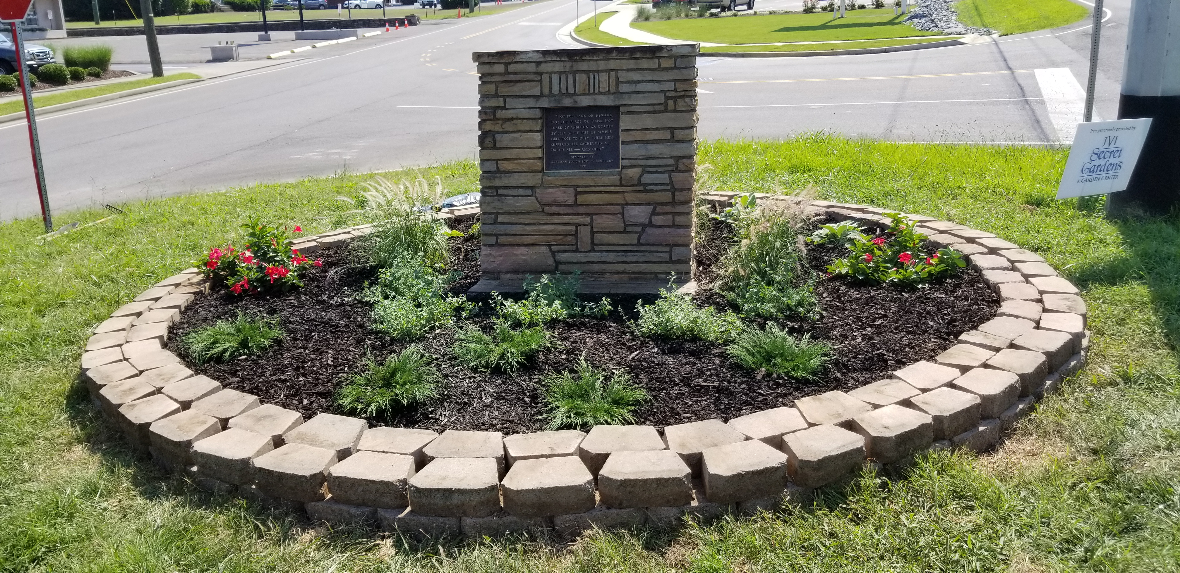 Post 88 Auxiliary Veterans Memorial Landscaping