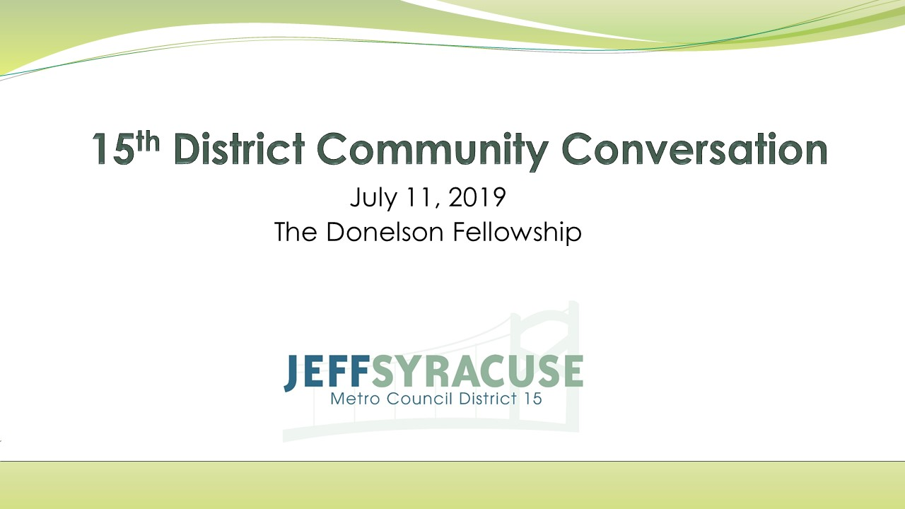 Donelson Town Hall Meeting with Jeff Syracuse