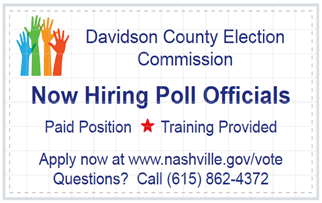 Now Hiring Poll Officials