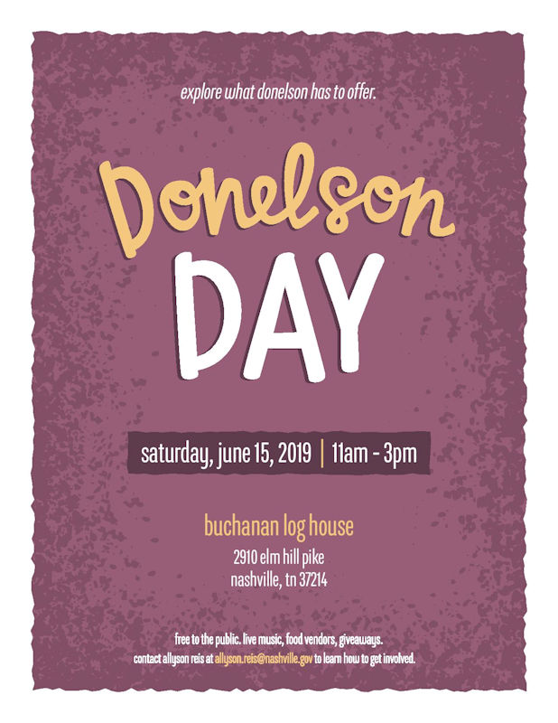 Donelson Day at Buchanan Log House