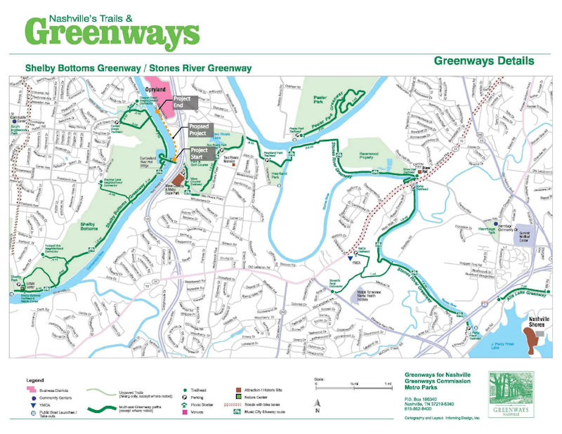 Opry Mills Greenway Connector Map