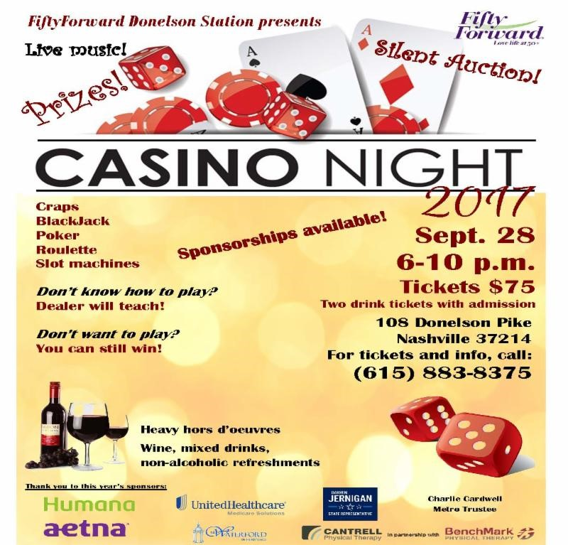 Casino Night at Fifty Forward Donelson Station