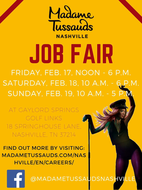Madam Tussauds Job Fair