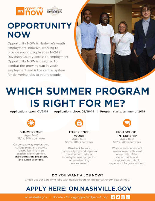 Opportunity Now Youth Program