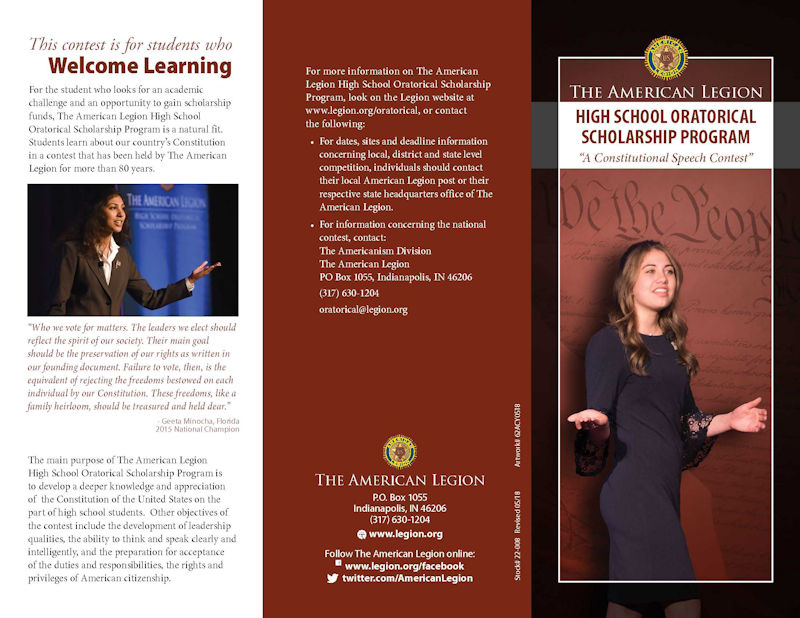 Oratorical Promotion Brochure