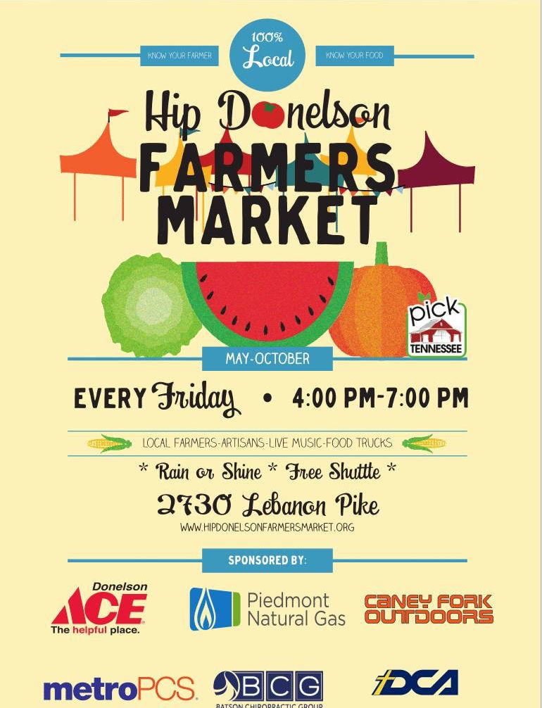 Hip Donelson Farmers Market Every Friday