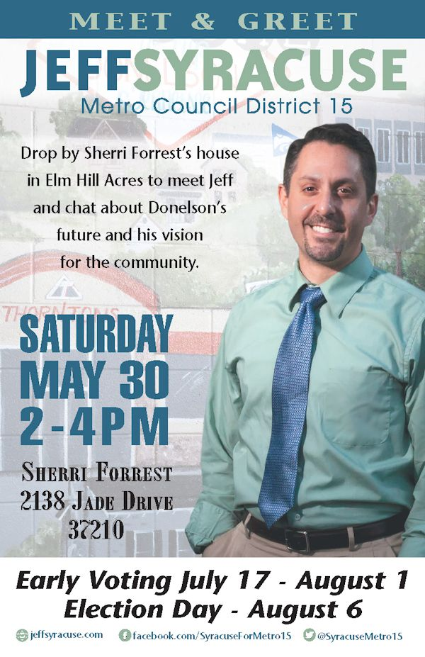 May 30 Meet and Greet - Jeff Syracuse For Metro Council