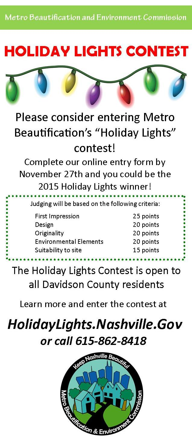 Holiday Lights Contest - Jeff Syracuse Metro Council District 15