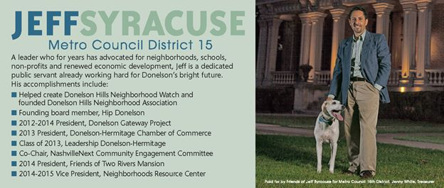 Jeff Syracuse For Metro Council District 15 - Jeff's New Calling Card