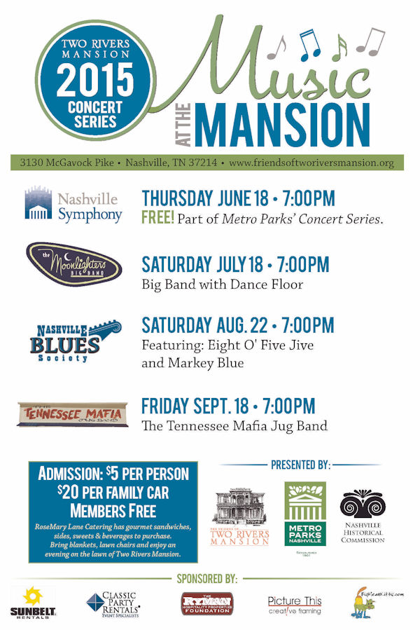 Music At The Mansion 2015 Concert Series