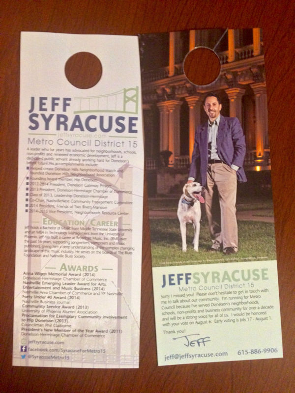 Syracuse For Metro15 Door Hangers