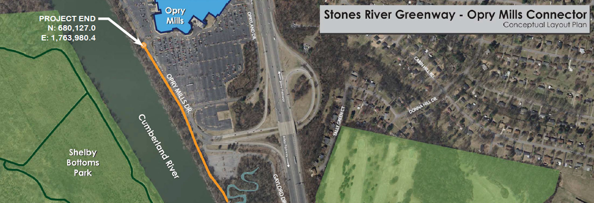 Stones River Greenway - Opry Mills Connector - Conceptual Layout Plan